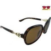 Polo House USA Oval Sunglasses(Brown)