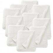 [neu.haus]® 10 x Toallas de rizo para Invitados - 80 x 200 cm - Set de toallas de baño - Paño - Toalla de sauna grande - 100% algodón - 450 g/m² - Blanco