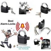 Anti theft security lock pad lock with smart ALARM black color waterproof lock with siran voice