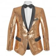 vidaXL férfi szmoking arany flitteres blézer 54-es méret