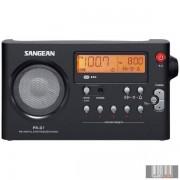 Sangean PR-D7PACKAGE B Hordozható szintézeres AM/FM táskarádió (fekete)