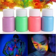 Halloween Party Face Body Noctilucence Painting Glowing Liquid Non-toxic Dye Fluid Makeup Tools