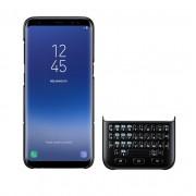 Samsung Keyboard Cover QWERTY EJ-CG955BBEGWW - поликарбонатов кейс и клавиатура за Samsung Galaxy S8 Plus (черен)