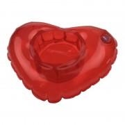 Geen Opblaasbare hartjes beker houder 20 cm