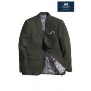 Next Check Tailored Fit Jacket - Khaki - Mens