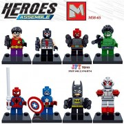Generic 8pcs Starwars Super Heroes Marvel PG8018 Batman Joker Blue Beetle Bane Black Manta Two-Face Riddler Building Block Toys juguetes M58T65