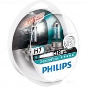 Set 2 Becuri Auto PHILIPS - H7 12V 55W PX26d X-TREME VISION PLUS (+130%) - 12972XV+S2