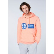 CHIEMSEE Herren Sweatshirt mit PlusMinus-Design, Neon Orange
