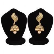 Jewels Gold Alloy Party Wear Fashion Designer Latest Stylish Golden Jhumki Earring Set For Women Girls