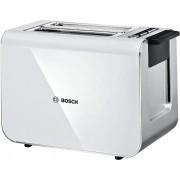 Prăjitor de pâine compact 2/2, electronic Styline Inox Bosch, 860W, Alb,tat8611