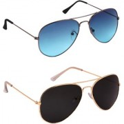 TheWhoop Combo UV Protected New Premium Aviator Sunglasses For Men Women Boys Girls