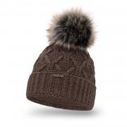Zimowa czapka damska PaMaMi - Czekolada
