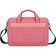 Let op type!! DJ06 Oxford doek waterdichte slijtvaste draagbare uitbreidbaar laptop tas voor 13 3 inch laptops met afneembare schouderriem (roze)