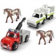 Set de joaca cu 2 masinute si figurine caluti Pompierului Sam