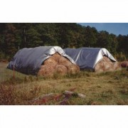 10ft. x 100ft. Silver Gray Waterproof Poly Tech II Hay Bale Tarp