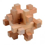 Little Spells Kong Ming Luban Lock Traditional Toy Unique 3D Wooden Puzzle Classical Intellectual Wooden Cube Educational Toy