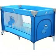 Patut Pliabil cu doua nivele Samba Plus - Coto Baby - Albastru