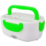 Draagbare Lunchbox voedsel container auto elektrische verwarming voedsel warmer rijst container 110V (groen)