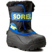 Cizme de zăpadă SOREL - Childrens Snow Commander NC 1877 Black/Super Blue 011