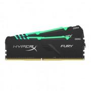 DDR4, KIT 32GB, 2x16GB, 2666MHz, KINGSTON HyperX Fury RGB, CL16 (HX426C16FB3AK2/32)