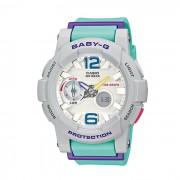 Original Casio BABY-G G-LIDE BGA-180-3BDR Analogico Digital Sport Watch - banda gris y verde