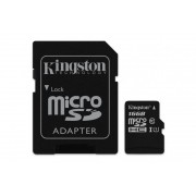 Card de memorie Micro SD Kingston, 16GB, SDC10G2/16GB, Clasa 10, cu adaptor SD