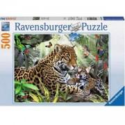 Пъзел Ravensburger 500 елемента, Ягуар с малките си, 701095
