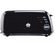 BMS Lifestyle Extra-Wide Slot Toaster with Defrost, Reheat and Cancel Functions, 7 Browning Levels, Dust Cap and Removable Crumb Tray 900 W Pop Up Toaster(Black)
