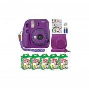 Fujifilm Instax Mini 9 Instant Camera Clear Purple with C...