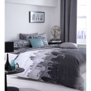 Catherine Lansfield City Scape Bedding Set - Multi - Single - Multi