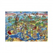 Educa Európai világ puzzle, 1000 darabos
