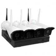 Övervakning Kit NVR-K410 med 4st 1.0MP Kameror