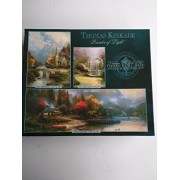 Thomas Kinkade Deluxe Puzzle Set 3 Full Size Puzzles (The Mountain Chapel, End Of A Perfect Day Iii, Lilac Gazebo)