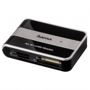 Cititor de carduri Hama All in 1 USB 2.0 Negru/Argintiu