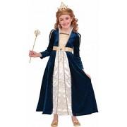 Forum Novelties 78062 Kids Royal Navy Princess Costume, Large, Blue