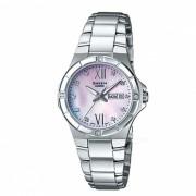 casio SHE-4022D-4A reloj analogico de 3 agujas - gradacion rosa + plata
