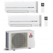 Mitsubishi Climatizzatore Condizionatore Mitsubishi Electric Dual Split Inverter Serie Sf 9000+9000 Con Mxz-2e42va