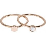Cluse Sada dvou prstenů s hexagony CLJ40001 54 mm