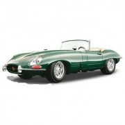 BBurago Gold - Jaguar E Cabriolet Convertible (1961 1:18 Green) diecast car model