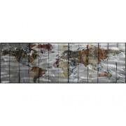 Tablou pictat manual Earth 40x120 cm