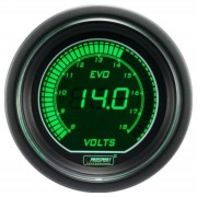 EVO tuning budík voltmeter s voliteľným zeleným podsvietením