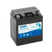 Exide AGM12-14 12V 14Ah motorkerékpár akkumulátor JOBB+