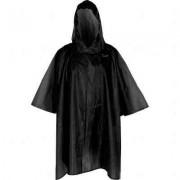Adult Black Re-Usable PVC Ponchos