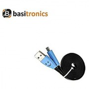 Basitronics Flat Smile Micro USB Charging and Data cable 3 Feet 0.9 Meters Black