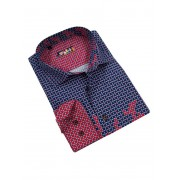 Spazio Cubed Cavetus Long Sleeved Shirt Fuchsia 8-1518