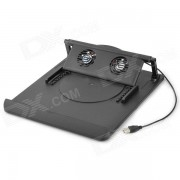 Plegable portatil giratorio de 2 Fan Cooling Fan Cooler - Negro