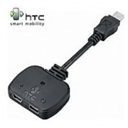 HTC 2-in-1 Audio Charging USB Cable Headset Adapter (Mini-USB Y-Adapter)