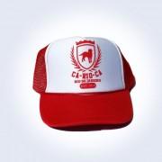CA-RIO-CA Crest Trucker Hat Red CRC-H100903