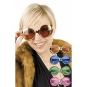 Ronde glimmende hippie bril