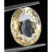 Certified Citrine Quartz 7.26 Cts. Sunehla / Substitute For Yellow Sapphire